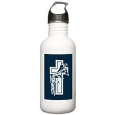 Cross with Floral Water Bottle
