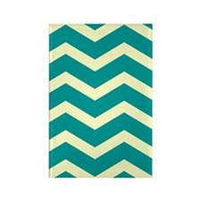 Teal Chevron Rectangle Magnet