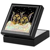 Golden Retiever Duo Keepsake Box