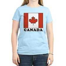 Canadian Flag Women's Pink T-Shirt