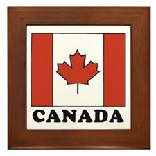 Canadian Flag Framed Tile