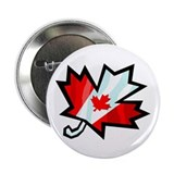 "Canadian Maple Leaf 2.25"" Button (100 pack)"