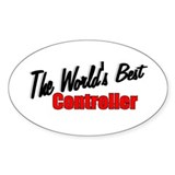 &quot;The World's Best Controller&quot; Oval Decal