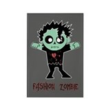 Fashion Zombie Rectangle Magnet (100 pack)