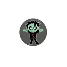 Fashion Zombie Mini Button
