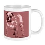 Red Color Bulldog Coffee Mug