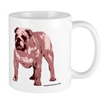 Red Tone Bulldog Mug