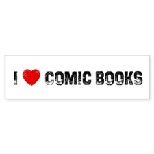 I * Comic Books Bumper Bumper Sticker