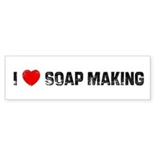 I * Soap Making Bumper Bumper Sticker