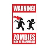 Zombies are Flammable Rectangle Decal