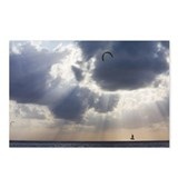 kite surfer jumping with  Postcards (Package of 8)