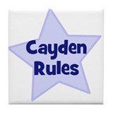 Cayden Rules Tile Coaster