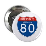 "Interstate 80 - NE 2.25"" Button (100 pack)"