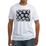 SKULL  ART DESIGN Fitted T-Shirt