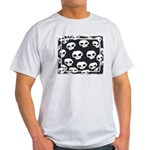 SKULL  ART DESIGN Ash Grey T-Shirt