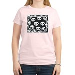 SKULL  ART DESIGN Women's Pink T-Shirt