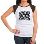 SKULL  ART DESIGN Women's Cap Sleeve T-Shirt