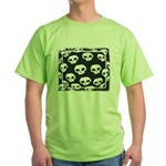 SKULL  ART DESIGN Green T-Shirt