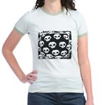 SKULL  ART DESIGN Jr. Ringer T-Shirt