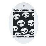 SKULL  ART DESIGN Oval Ornament