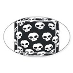 SKULL ART DESIGN Oval Sticker