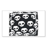 SKULL ART DESIGN Rectangle Sticker
