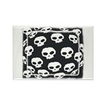 SKULL ART DESIGN Rectangle Magnet