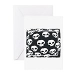 SKULL  ART DESIGN Greeting Cards (Pk of 10)
