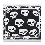 SKULL  ART DESIGN Tile Coaster