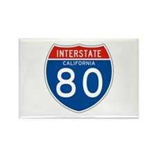 Interstate 80 - CA Rectangle Magnet (100 pack)