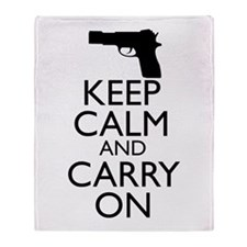 Keep Calm and Carry On Throw Blanket