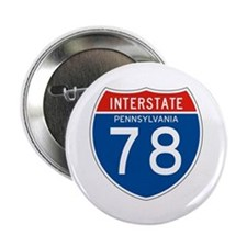 "Interstate 78 - PA 2.25"" Button (10 pack)"