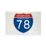 Interstate 78 - PA Rectangle Magnet (100 pack)