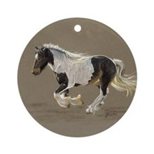 Gypsy Vanner Stallion Keepsake Ornament (Round)