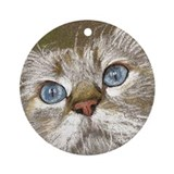 Birman Cat Keepsake Ornament (Round)