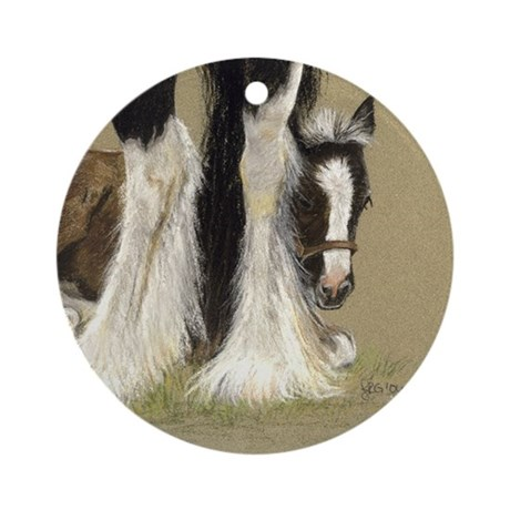 Gypsy and Foal Keepsake Ornament (Round)
