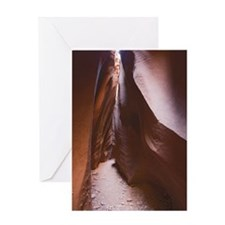 Slot canyon of Dry Fork Coyote Gulch Greeting Card