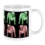 Red/Green on Black Bulldog Mug