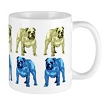 Blue/Brown Tone Bulldog Mug