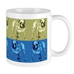 Blue/Brown Color Bulldog Mug