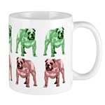 Green/Red Tone Bulldog Mug