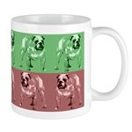 Green/Red Color Bulldog Mug
