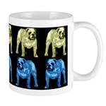 Brown/Blue on Black Bulldog Mug