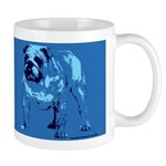 Brown/Blue Bulldog Mug