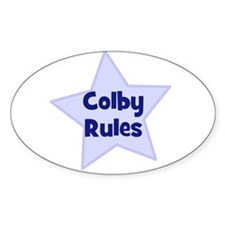 Colby Rules Oval Decal