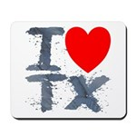 I Love TX Mousepad