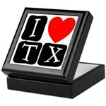 I Love TX Keepsake Box