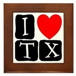 I Love TX Framed Tile