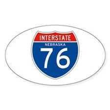 Interstate 76 - NE Oval Decal