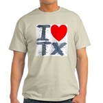 I Love TX Ash Grey T-Shirt